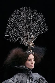 A model presents a creation by British designer Alexander McQueen during the autumn/winter 2008-2009 ready-to-wear collection show in Paris, 29 February 2008