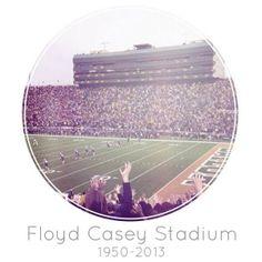 #Baylor University's Floyd Casey Stadium: 1950-2013 #CaseClosed #Big12Champs