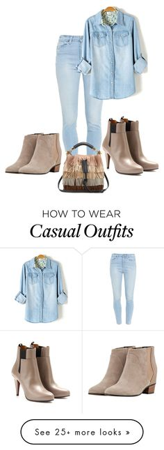 """Either or both casual !"" by le-lola on Polyvore featuring Paige Denim, Augusta, Balenciaga and Chloé"