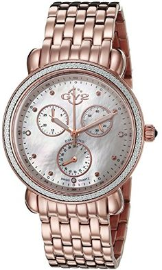 GV2 by Gevril Women's 9808 Marsala Analog Display Swiss Quartz Gold Watch >>> Check out the image by visiting the link.
