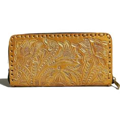 Women's Wallet, Leather, Handmade , Hand Tooled Leather, Boho, Bohemian, Large, for Cards, Gift for Her by aymxleather on Etsy Leather Tooling, Cow Leather, Cowhide Leather, Leather Wallet, Small Wallet, Zip Around Wallet, Handmade Wallets, Wallets For Women Leather, Leather Design