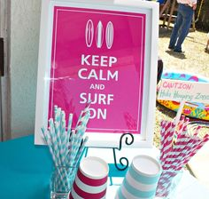 Surfer Girl and Backyard Beach Bash Birthday Party Ideas | Photo 10 of 35 | Catch My Party