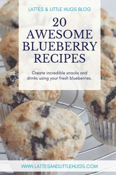 Incredibly delicious and nutritious blueberry recipes for every  occasion. #muffins #scones #smoothies, #lemonade #gluten-free #dairy-free