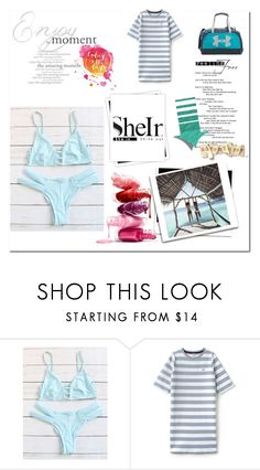 """Blue Bikini"" by suljo-pp ❤ liked on Polyvore featuring Lacoste L!VE, Under Armour and GALA"