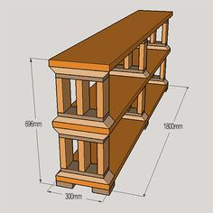 Rustic pine or reclaimed wood bookshelf. assembly is quick & easy,and apart from cutting the mitred corners on the columns, all pieces can be cut to size at th local builders, cutting down on how many tools need to be used on this project.