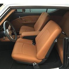 BecauseSS 68 chevelle custom interior brown and black custom door panels console