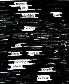 Austin Kleon...subtractive sculpture...subtractive poetry