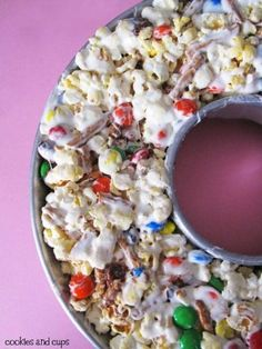 Popcorn Cake!  This is such a fun alternative to a birthday cake!!