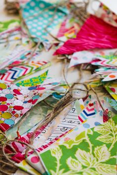 So fun! Love the colors and the twine.