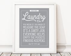 Laundry Room Rules Art Print. Laundry Sign. Laundry Room Sign. Farmhouse Decor. Country Art. Laundry Room Decor. Laundry Room Prints. (S489)