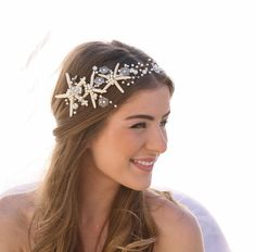 beach wedding hair accessory by besomethingnew   via 50+ nautical wedding theme ideas at EmmalineBride.com