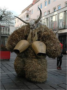 Krampus is a mythical creature recognized in alpine countries. According to legend, Krampus accompanies St. Nicholas during the Christmas season, warning and punishing bad children, in contrast to St. Nicholas, who gives gifts to good children.