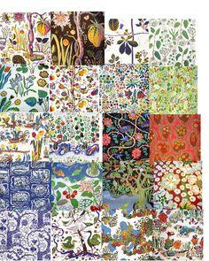 A genius! Textiles, Textile Patterns, Textile Design, Fabric Design, Print Patterns, Surface Pattern Design, Pattern Art, Joseph Frank, Poster Mural