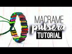Pulsera reciclaje vertical (fácil) ♥︎ macramé | Tutorial | How to - YouTube
