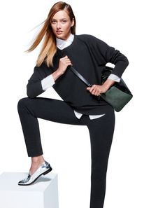 J.Crew Collection cashmere dolman sweater | love the silver shoes!