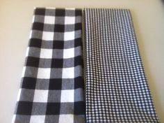 Black / White Gingham Hand Towels, Dish Towels, Tea Towels - Set of 2, by CHOW with ME by CHOWwithMe on Etsy