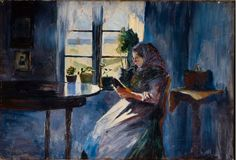 Jacob Somme (Norwegian, 1862-1940) - Woman Reading by a Window, 1890