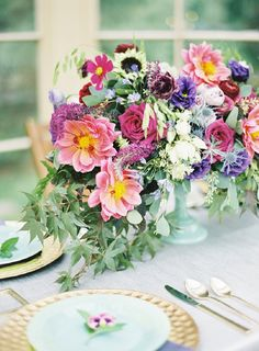 Breathtaking Floral Design and Styling By Sebesta Design | Modern Jewel Toned Wedding Inspiration from Kayla Barker Photography