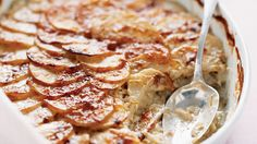 Scalloped potatoes with sauteed leeks can be assembled a day in advance in a casserole that travels from refrigerator to oven to table.