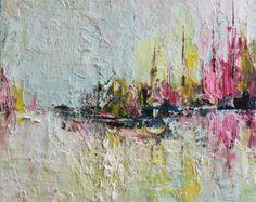 Arte impresión Giclee flores pintura abstracta por MGOriginalArt