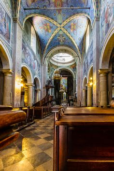 Interiors of Cathedral Basilica in Plock, Poland