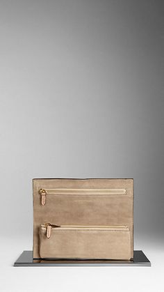 Alligator Leather Folding Clutch Bag | Burberry