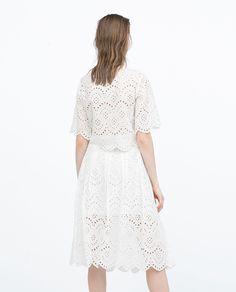ZARA - レディース - パーフォレーション加工・刺繍入りロングスカート