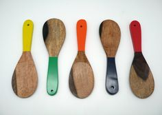 The Vitrine - Colorful Wooden Spoons from South Africa, $12.00 (http://www.thevitrine.com/colorful-wooden-spoons-from-south-africa/)