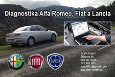 Alfa Romeo diagnostika Plzeň    Po telefonické objednávce Vám provedeme auto diagnostiku automobilů italské výroby  Alfa Romeo Fiat i Lancia
