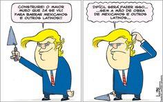 Charge do Lute sobre Donald Trump (12/11/2016). #Charge #Trump #DonaldTrump #EUA #Latinos #HojeEmDia