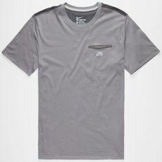 Nike Sb Dri-Fit Bemis Mens Pocket Tee Dark Grey  In Sizes