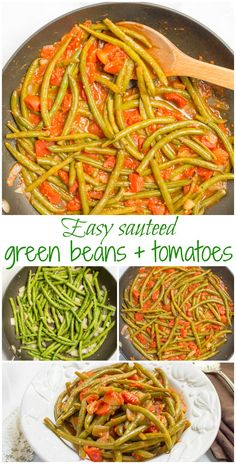 Sautéed green beans and tomatoes require just 4 ingredients and make for an…