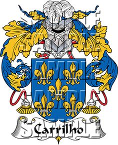 Carrilho Family Crest apparel, Carrilho Coat of Arms gifts