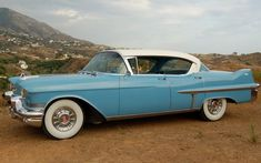 1957 Cadillac...haha now these are white walls...HAVE THIS BE THE GETAWAY CAR FOR MY WEDDING