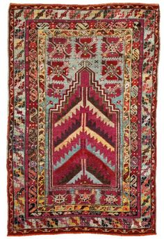 MUCUR (near Kırşehir) prayer rug, ca. 1900. 162½ x 107½	cm.