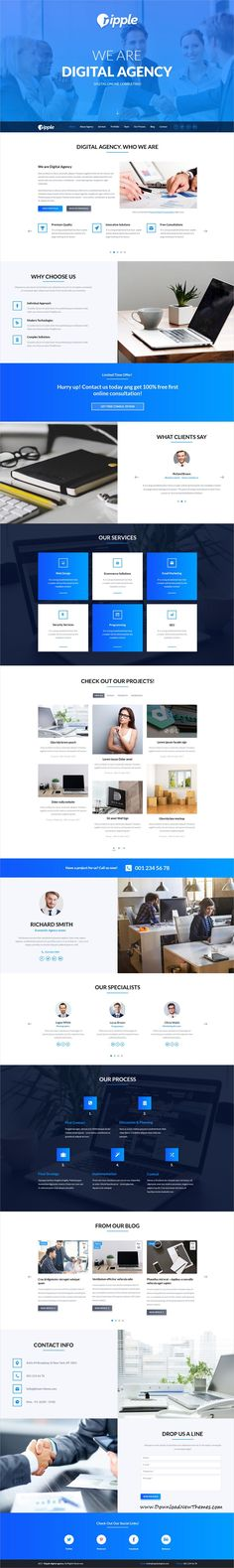 TheCapital is clean and modern design multipurpose #PSDtemplate for creative #agency #website with 14 niche homepage layouts and 40 layered PSD files to live preview & download click on image or Visit  #psdmockups