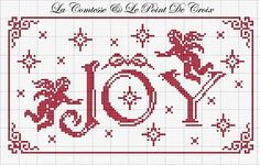 Christmas Joy by La Comtesse via La Comtesse   & Le Point de Croix