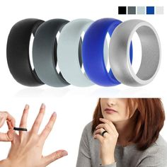 Food Grade Silicone Ring Stylish Sports Jewelry Rubber Finger Rings for Exercising Party Engagement Couples Men Wedding Band Engagement Couple, Wedding Engagement, Silicone Wedding Band, Silicone Rings, Silicone Rubber, Beautiful Engagement Rings, Color Ring, Wedding Ring Bands, Flexibility