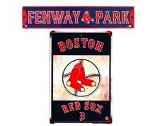 Boston Red Sox MLB Fan Cave 2 Sign Pack #GalanEnterprises #BostonRedSox
