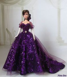 Vestido roxo barbie