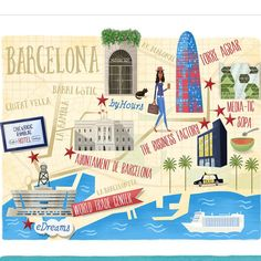 Graham Corcoran - Barcelona map for Cara Magazine