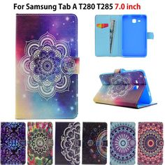 2016 Tab Case For Samsung Galaxy Tab A Case Cover Funda Tablet Painted Silicon PU Leather Shell Galaxies, Pu Leather, Shells, Samsung Galaxy, Tablet Cases, Wallet, Cover, Accessories, Usa