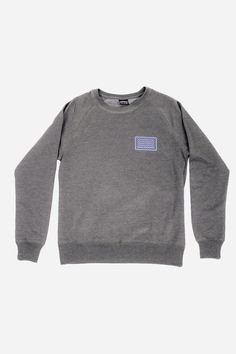 4519d1172 Waves Grey 100% Recycled Sweatshirt - Salvaged From The Sea – WAWWA Ф  Plastic Bottles