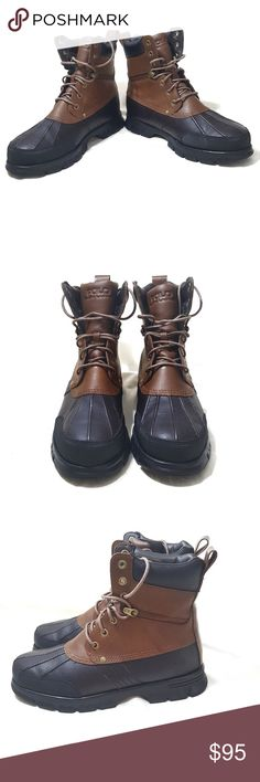 Polo By Ralph Lauren Leather Duck Boots Size 11 Polo Ralph Lauren Leather Boots  Model: Cain  Men's Size: 11D  Condition: These boots are in good condition and have only been worn four times.  Please refer to photos for better judgement.  *Refer to photo #7 the top of the tongue on the left Boot has a flaw* Polo by Ralph Lauren Shoes Boots