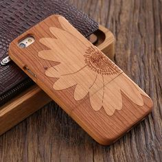 Phone Case For iPhone 6 6S Cover Hard Case Wood Natural Wooden Phone C – i'wood store