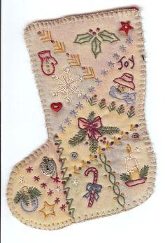 V01 Vintage Christmas Stocking