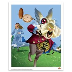 Alice In Wonderland: White Rabbit - Royal Mail Collection (Unframed Art Print)