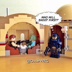 #LEGO_Galaxy_Patrol at #MosEisley #Cantina on #Tatooine #HanSolo #Greedo #LEGO #StarWars #MosEisleyCantina @starwars @lego
