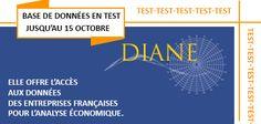 Bandeau pour annoncer la base de données DIANE en test