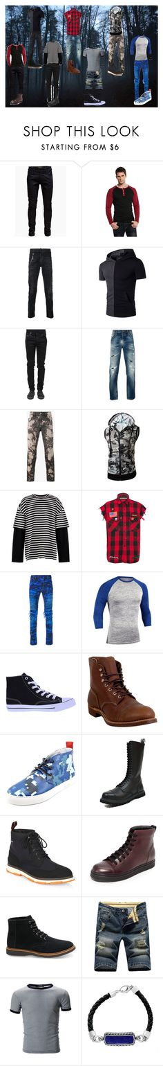 """""""Kar Garret - Other Outfits (#8)"""" by sonictf ❤ liked on Polyvore featuring Jack & Jones, Dsquared2, County Of Milan, Nudie Jeans Co., Gucci, Juun.j, MadeWorn, Balmain, Red Wing and Del Toro"""